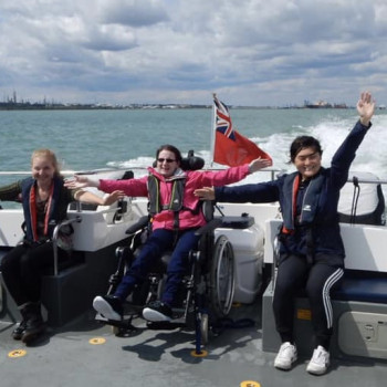 Wetwheels Hamble children Southampton Water 2019