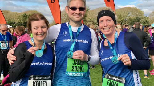 WWF Great South Run 2019 Kealey, Jamie and Emma F